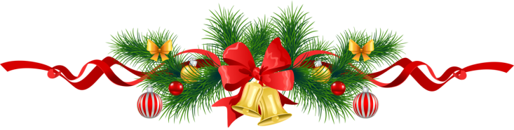 Transparent_Christmas_Pine_Garland_with_Gold_Bells_Clipart w background